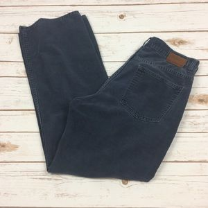 Other - Mens Gap relaxed fit boot blue gray corduroy pants